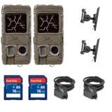 Cuddeback Game Camera (2pk) + SD Card (2pk) + Mount (2pk) + Security Cable (2pk)