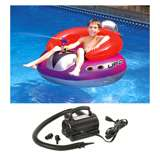 Swimline Inflatable Ufo Lounge Chair 9078 with 110V Air Pump