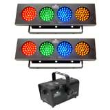(2) Chauvet DJBank Effect Lights + Hurricane H700 Fog Machine
