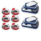 Intex River Run Inflatable Raft (6 Pack) & Mega Chill Beverage Cooler (6 Pack)