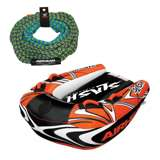 Airhead Slash II Double Rider Inflatable Boat + 60 Foot Tow Rope