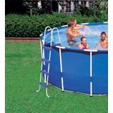 Intex 18ft x 48in Metal Frame Swimming Pool Set with 1,500 GFCI Pump & Filter