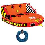 Airhead Triple Rider Towable Tube w/ Towing Rope 60 Feet Long