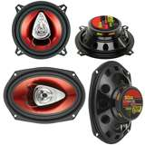 Boss CH5530 5.25-Inch 3-Way 225W with Boss CH6920 6x9-Inch 2-Way 350W Speakers 2)