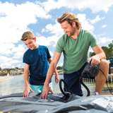 Intex Inflatable Corner Sectional Sofa & Intex 120-Volt Corded Electric Air Pump