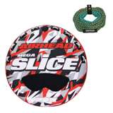 Airhead Mega Slice 4-Rider Towable Tube Raft with 60-Foot Rope