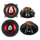 """2) Boss CH5530 5.25"""" 225W 3-Way +2) CH6520 6.5"""" 250W 2-Way Car Coaxial Speakers"""