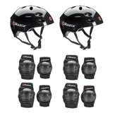 Razor V17 Youth Sport Helmets (2 Pack) + Elbow & Knee Pads (2 Pack)