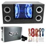 "Pyramid BNPS122 12"" 1200W Car Audio Subwoofer w/ Box, 1500W Mono Amp, & Amp Kit"