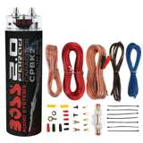 Boss CPBK2 2 Farad Digital Voltage Capacitor with 8 Ga Amp Kit