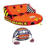 Airhead Triple Rider Towable Tube & Tow Rope w/ Buoy Booster Ball