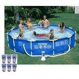 "Intex 12' x 30"" Metal Frame Set Swimming Pool w/ 530 GPH Pump & Filters | 56995EG"