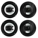 Boss R63 6.5-Inch 300W 3 Way Coaxial Speakers (2 Pairs)