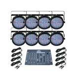 Chauvet SlimPar 64 LED Par Can Lights (8) + Obey 3 Controller + 10' & 25' DMX Cables
