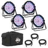 American DJ Mega Flat Pak Plus RGB + UV LED System w/ Bag & Cables