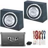 Boss Audio CX122 12-Inch 1400W Subwoofers with Sealed Boxes, Amplifier & Wiring