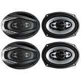 """4) NEW BOSS NX694 6x9"""" 1600W ONYX 4-Way Car Audio Speakers 1600 Watts 2 Pair"""