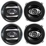 "4) BOSS P55.4C 5.25"" 600W 4-Way Car Coaxial Audio Speakers Stereo P554C 2 PAIR"