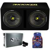 Kicker 44DCWC122 12-Inch 1200W Subwoofer Enclosure with Mono Amplifier Amp