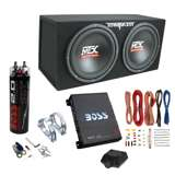 "MTX TNE212D 12"" 1200W Dual Loaded Subwoofer Box + 1100W Amplifier + Capacitor"