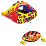 Airhead Poparazzi Wing-Shaped Boat Towable Tube w/ Orb Rope Ball