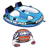 Airhead Mach 2 2-Rider Towable Tube with Tow Rope Buoy Ball