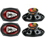 Boss CH6940 6-Inch x 9-Inch 4-Way 500W Speakers (2 Pairs)