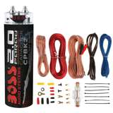 Boss CPBK2 2 Farad Digital Voltage Capacitor with 8 Ga Amp Kit