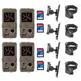 Cuddeback Game Camera (4pk) + SD Card (4pk) + Mount (4pk) + Security Cable (4pk)