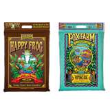 FoxFarm 12 Quart Ocean Forest Potting Soil w/ Happy Frog Rapid Grow Potting Soil
