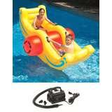 Swimline Pool Inflatable Sea-Saw Rocker w/ 110V Air Pump | 9058 + 9095