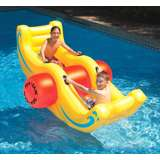 Swimline 9058 Sea-Saw Water Rocker Inflatable PVC 2 Person Pool Float, Yellow