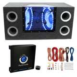 Pyramid BNPS122 12-Inch 1200W Bandpass Subwoofers with Box with 1500W Mono Amp with Wiring