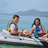Intex Excursion Inflatable Raft & 2 Trolling Motors