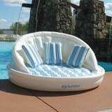 Swimline Solstice 15135HR Inflatable 3 Person AquaSofa Couch Float Raft w/ Pump