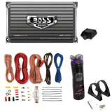 Boss AR1500M 1500W Mono Amplifier with Remote with 2.2 Farad Capacitor with Amp Kit
