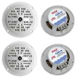 "Pyle PLMR41W 4"" Marine Waterproof Boat/Car Speakers White (4 pack)"
