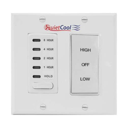 Timer Fan Whole House 12-Hr Wh - Wall Timer Switches ...  Whole House Fan Timer