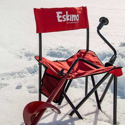 Eskimo 8 Stainless Steel Ice Fishing Hand Powered Manual
