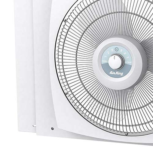 Air king storm guard 16 3 speed 1 16 hp plastic blade for 16 inch window box fan