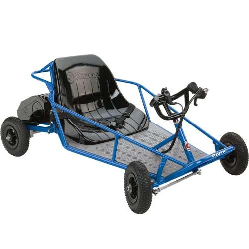 Razor 25143540 Kids Youth Electric Go Kart Dune Buggy Blue Frame Used
