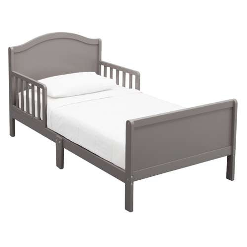 Delta Children Bennett Toddler Bed Frame w/ Guardrails (Frame Only ...