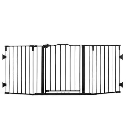 Regalo Steel Frame Adjustable Home Decor Super Wide Baby Gate, Black ...