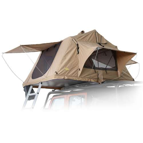 Details about Smittybilt Overlander Roof Top Camping Folded Tent, Coyote  Tan (Open Box)