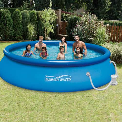 Summer Waves Ft Quick Set Inflatable Above Ground Pool W Pump