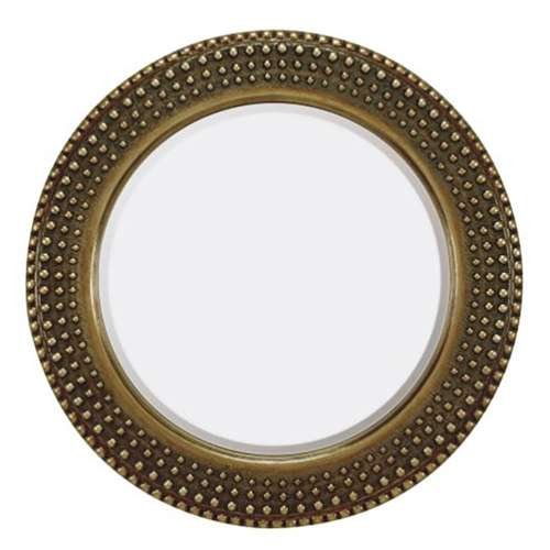 Majestic Mirror Traditional Round Gold Frame Glass Accent Wall ...