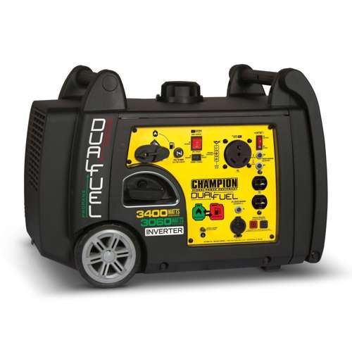 Details about Champion 3400-Watt Portable Dual Fuel Inverter Generator  (Open Box)