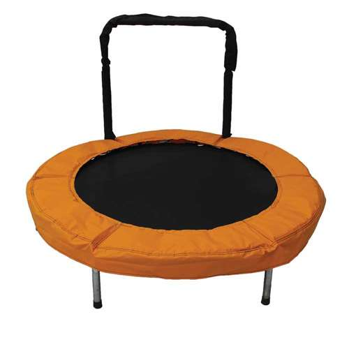 """JumpKing 48"""" Bouncer Kids Mini Small Trampoline With"""
