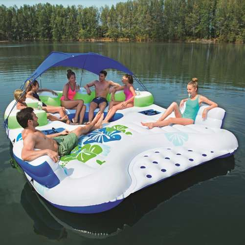 Bestway CoolerZ X5 Canopy Island 7Person Inflatable River Raft