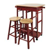 Casual Home Drop Leaf Hardwood Mobile Breakfast Cart Deals